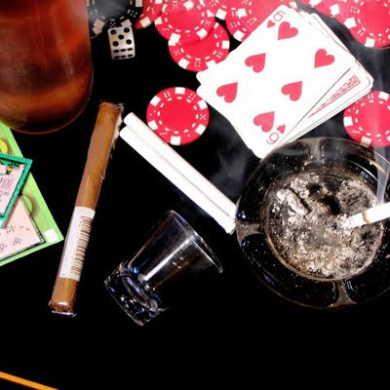 gambling cigarette alcohol?